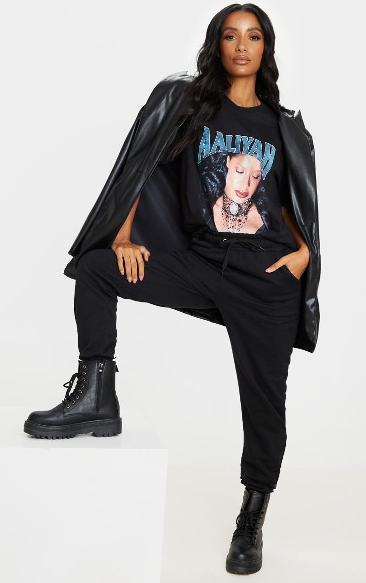 Black Aaliyah Printed T Shirt 3