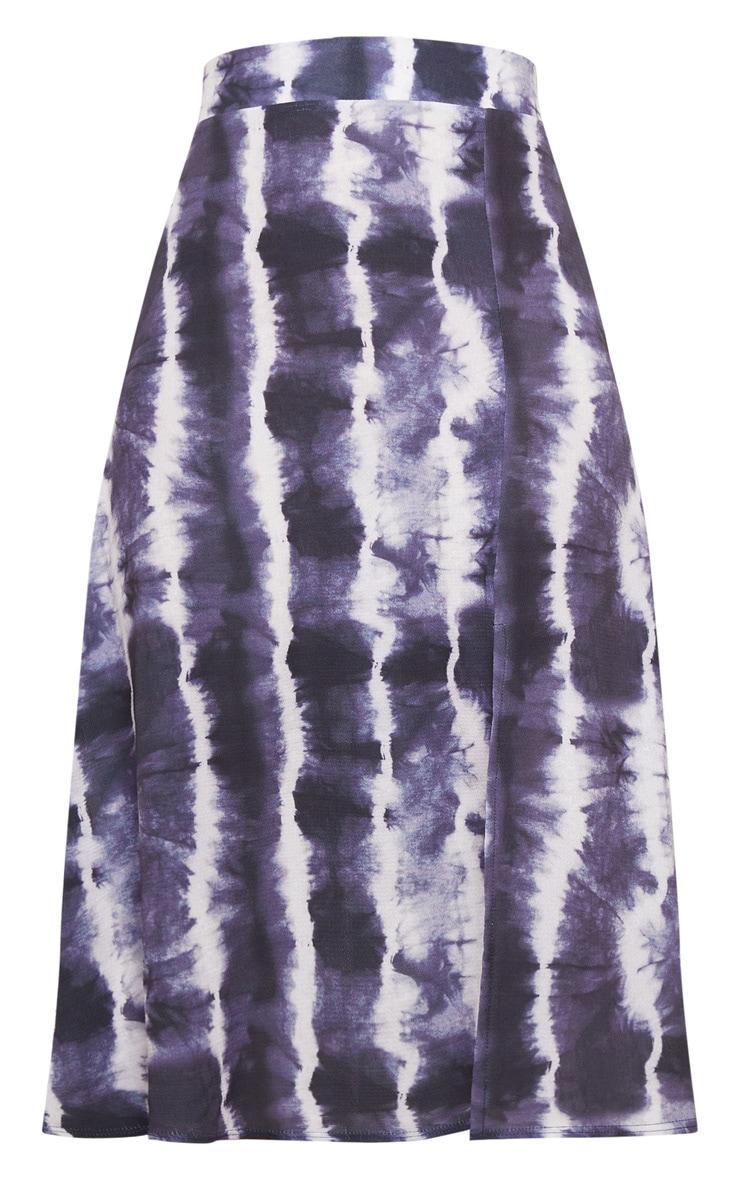 Black Tie Dye Floaty Midi Skirt 5
