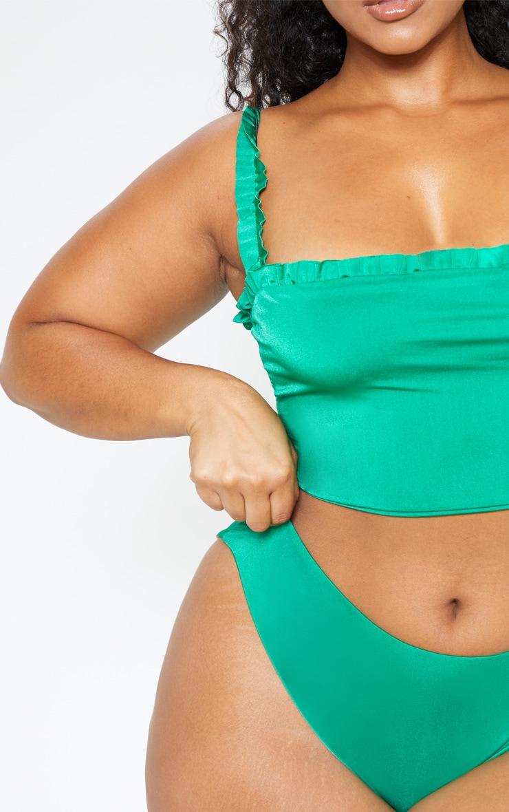 Plus Bright Green Bikini Bottom  6