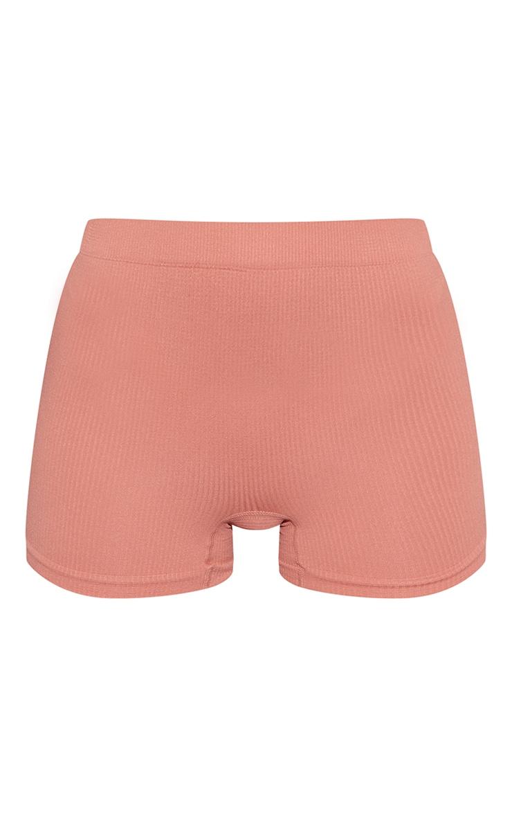 Clay Seamless Rib Boy Shorts 5