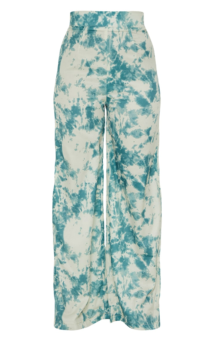 Petite Khaki Tie Dye Wide Leg Pants 2