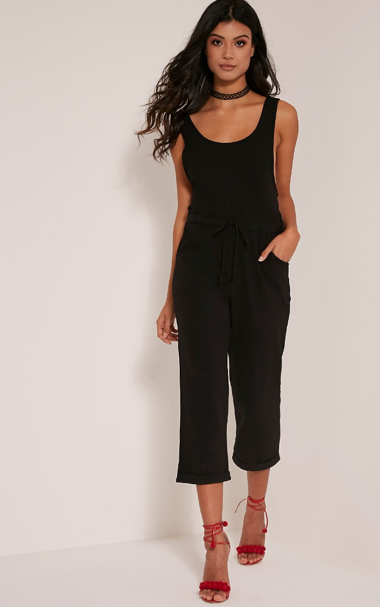 Shaya Black Loose Fit Jumpsuit 4