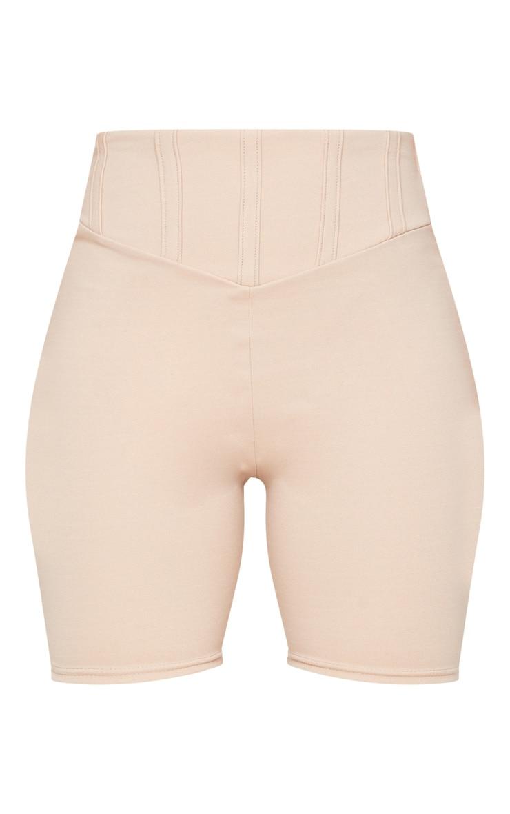 Short-legging gris pierre à détail corset 6