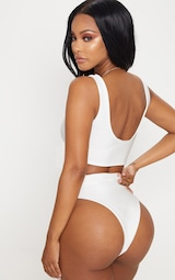 Shape White Bikini Top 2