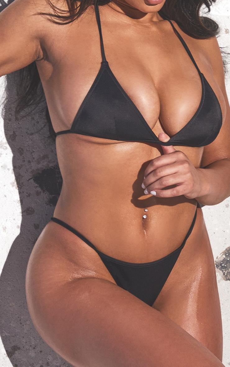 Recycled Black Fabric Triangle Bikini Set 4