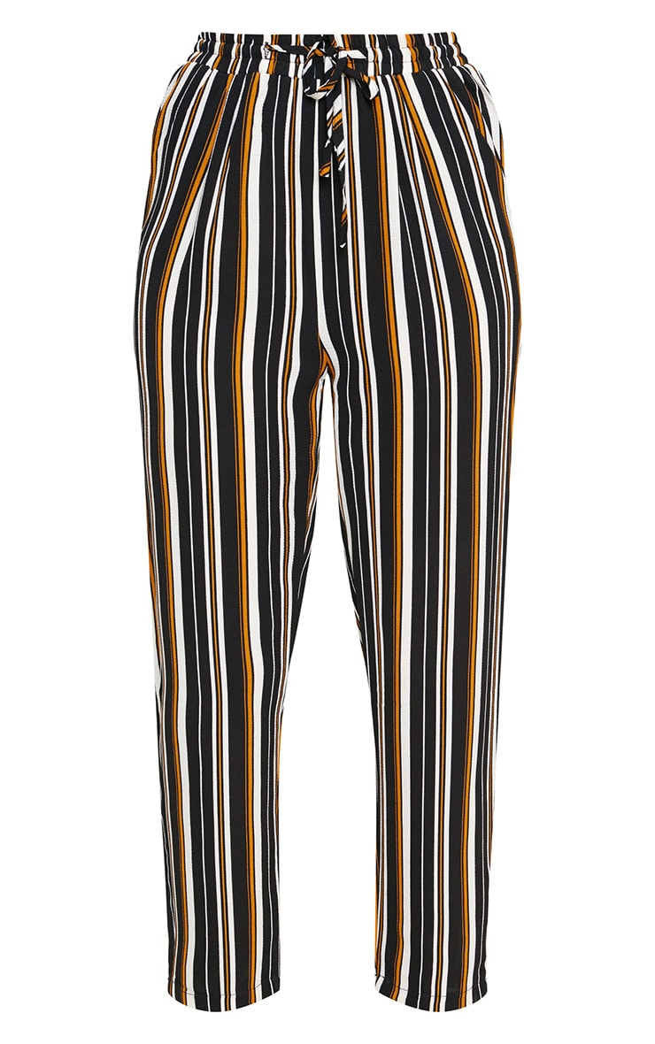 Yellow Stripe Casual Trousers 3