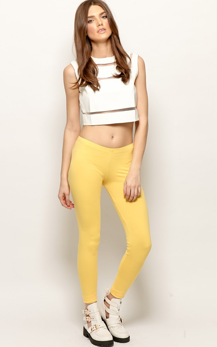 Harriet Yellow Basic leggings-S 3