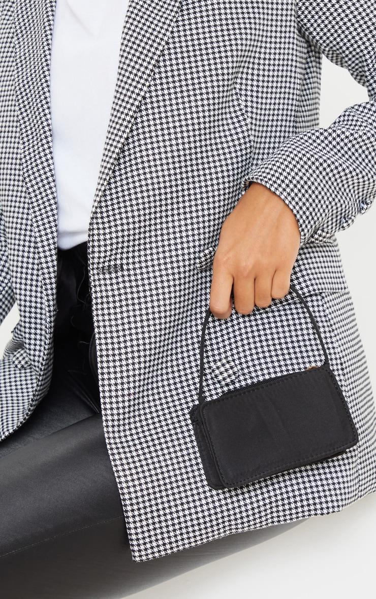 Black Satin Rectangle Micro Mini Bag     by Prettylittlething