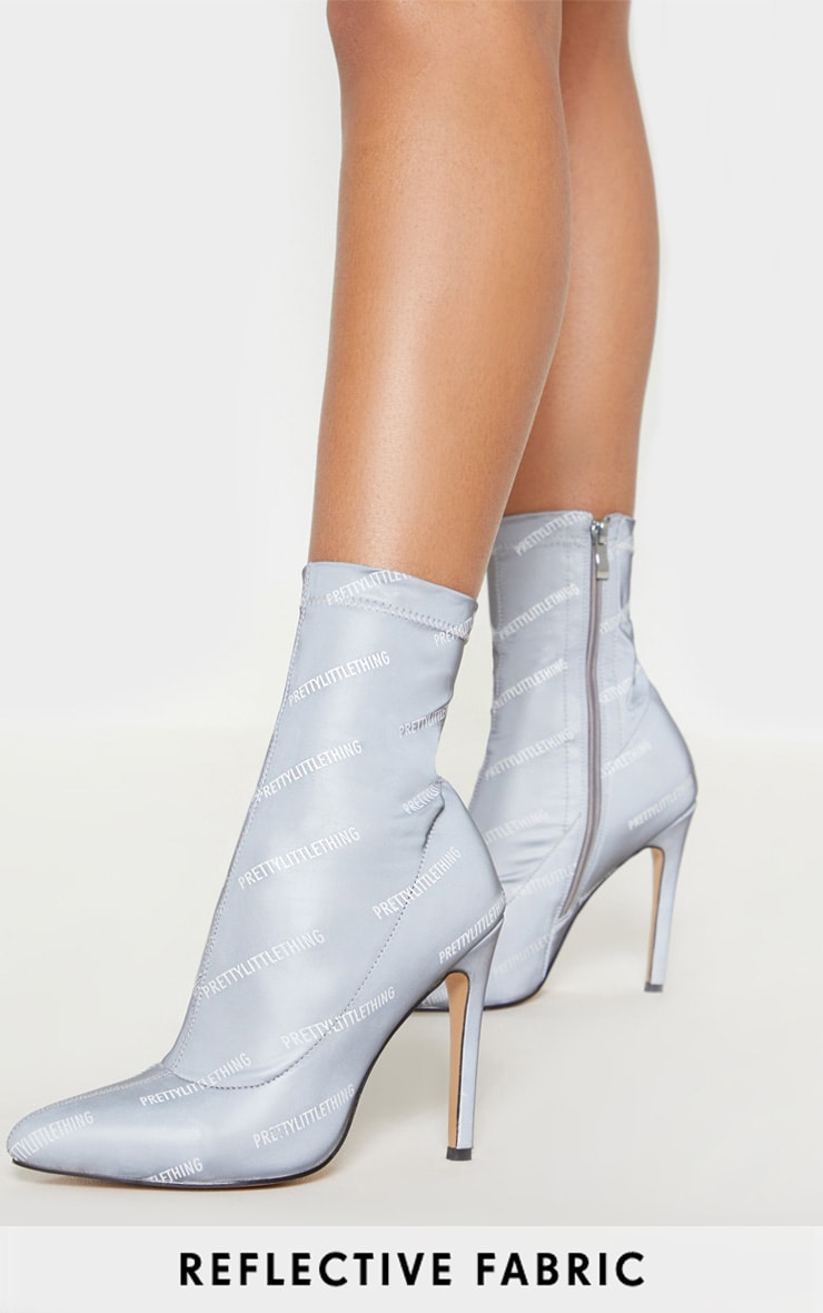 PRETTYLITTLETHING Reflective Sock Boot 1