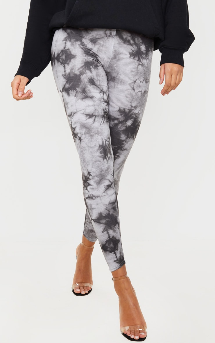 Light Grey Tie Dye Leggings 2