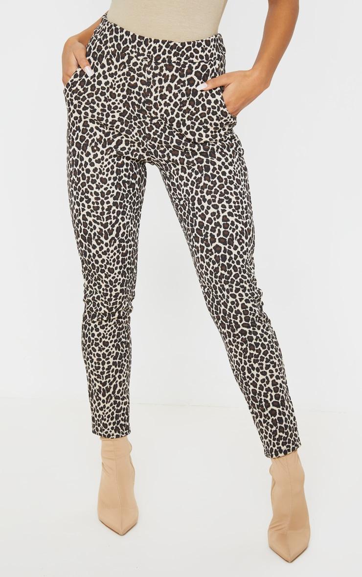Stone  Leopard Skinny Pants 2