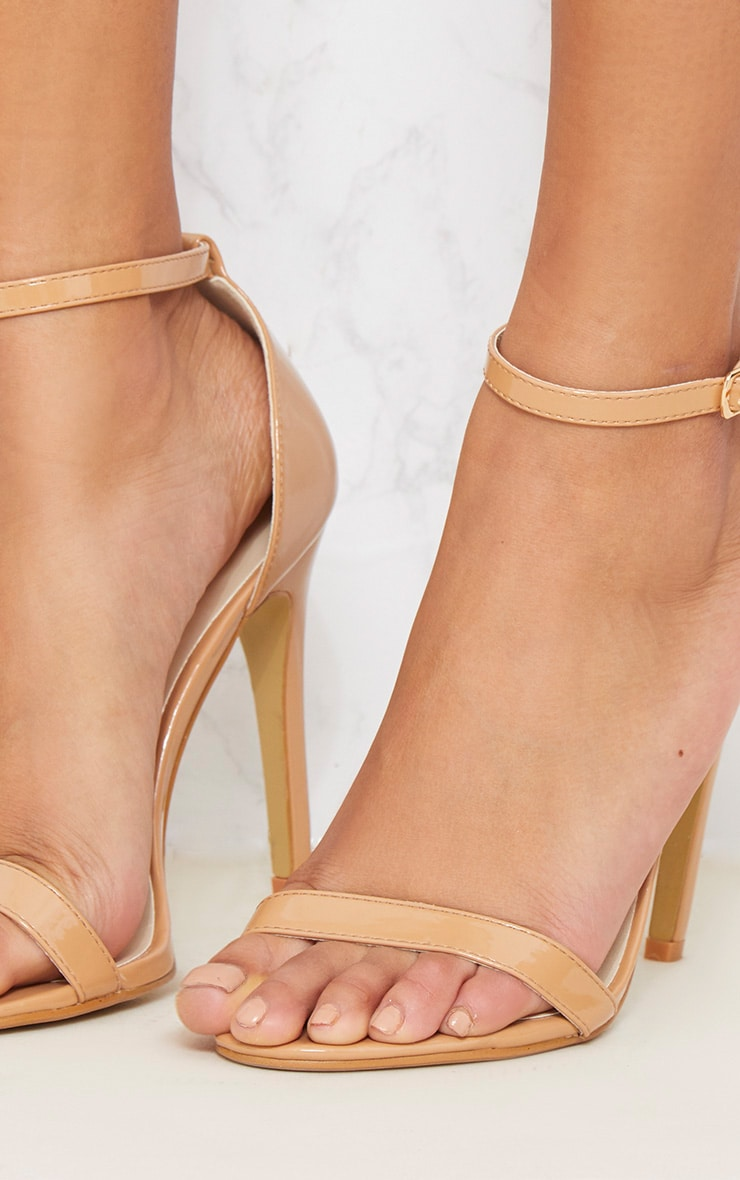 Nude Patent Heeled Strappy Sandal 5