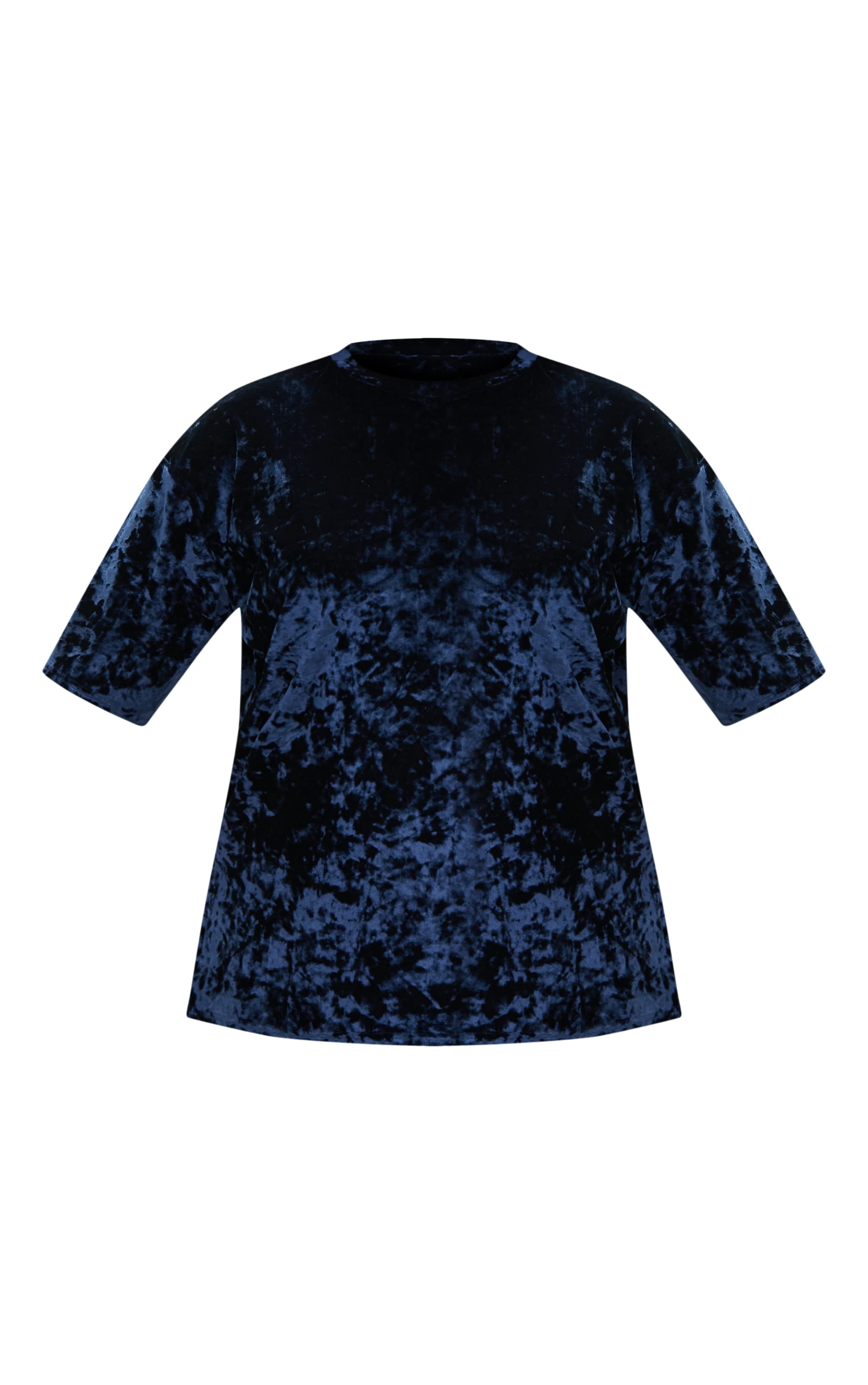 Plus Blue Velvet T-Shirt 3