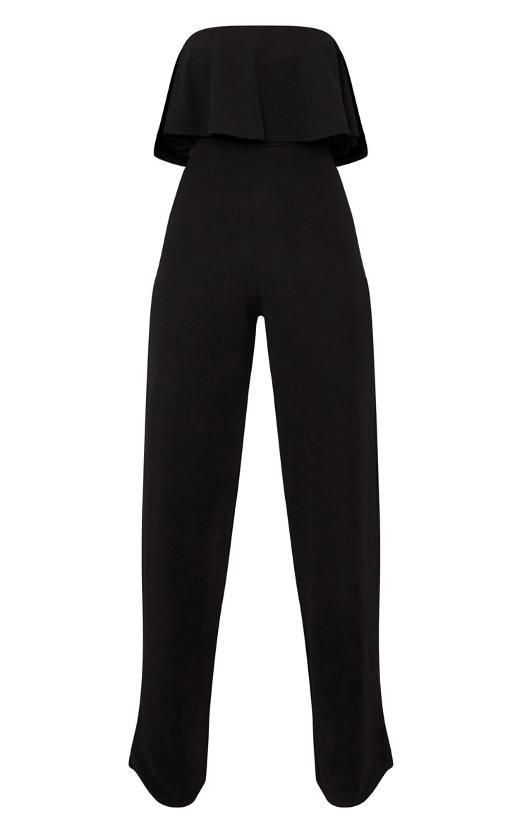 Black Bardot Double Layer Jumpsuit 3