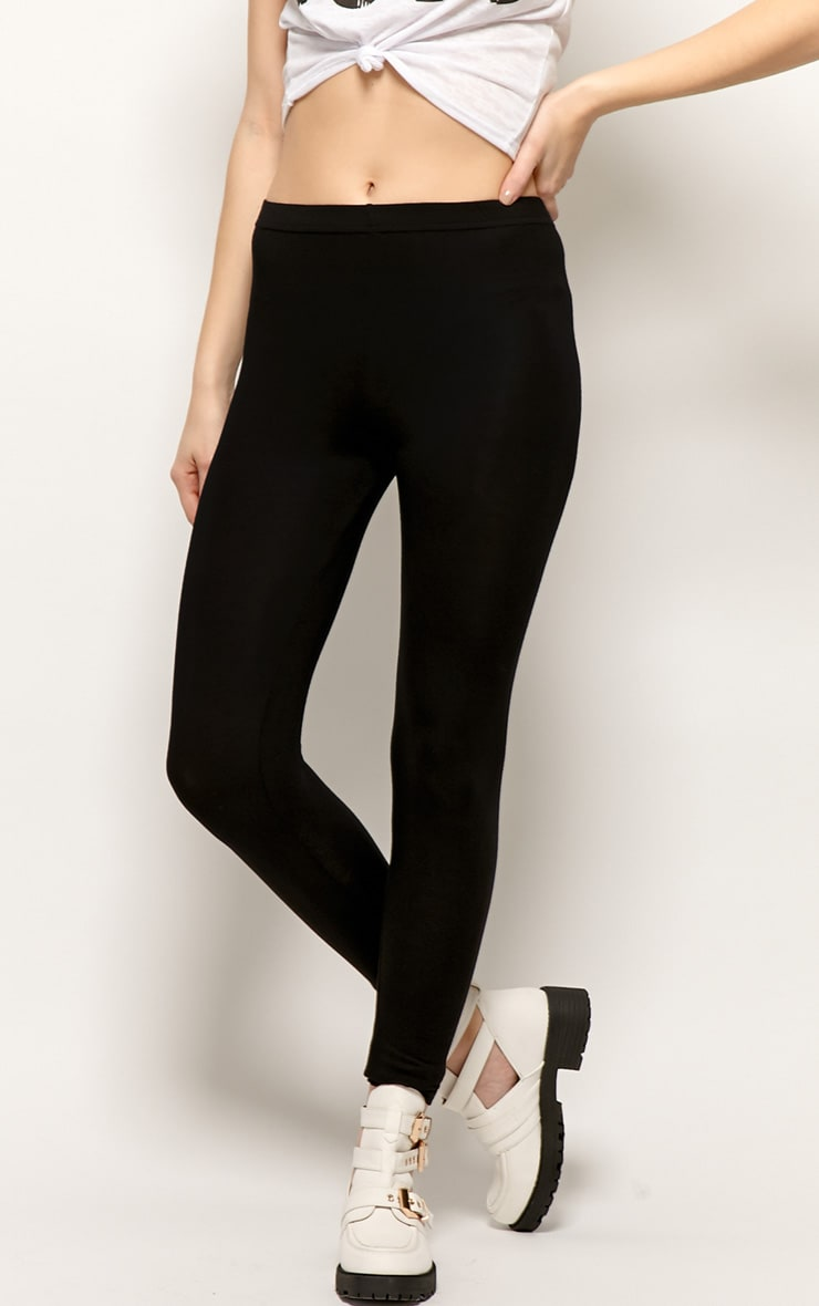 Sofie Black Jersey Leggings 3