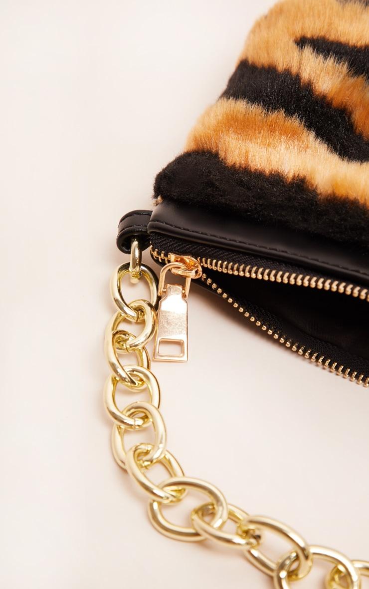 Tiger Faux Fur Handbag 4