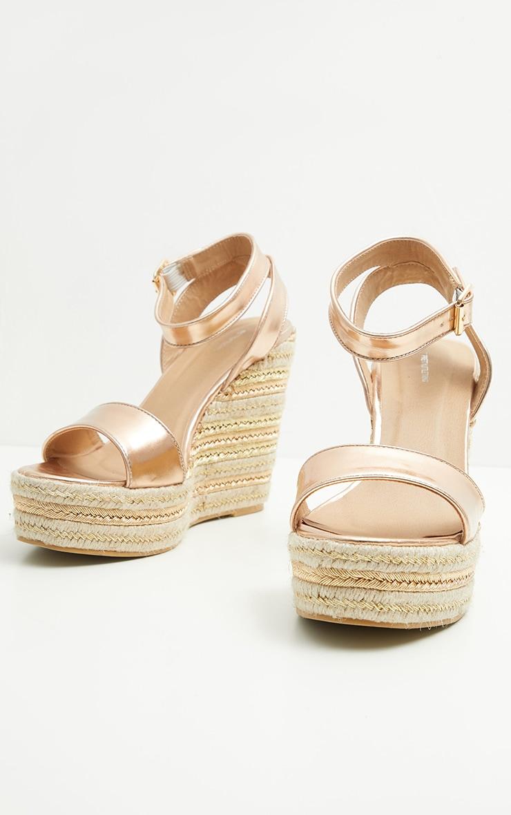 Gold Metallic Espadrille Wedge Sandal 3