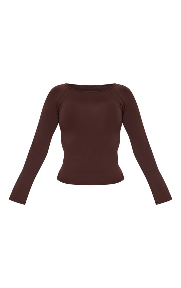 Chocolate Cover Stitch Long Sleeve Gym Top 3