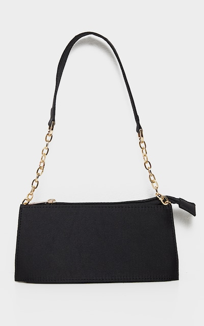 Black Chain Handle 90s Shoulder Bag