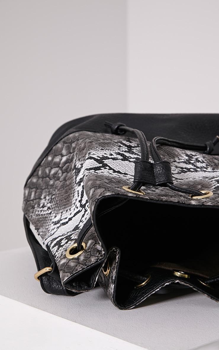 Oria Snakeprint Backpack 5