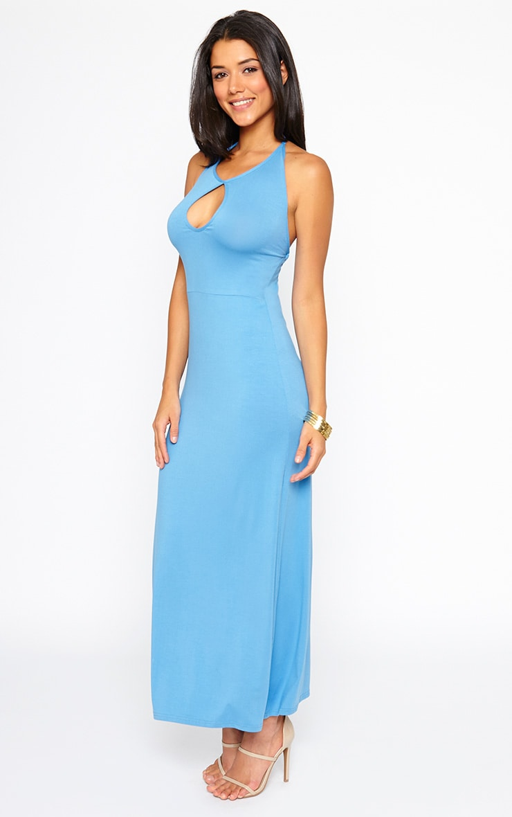 Kerry Blue Caged Back Maxi Dress 1