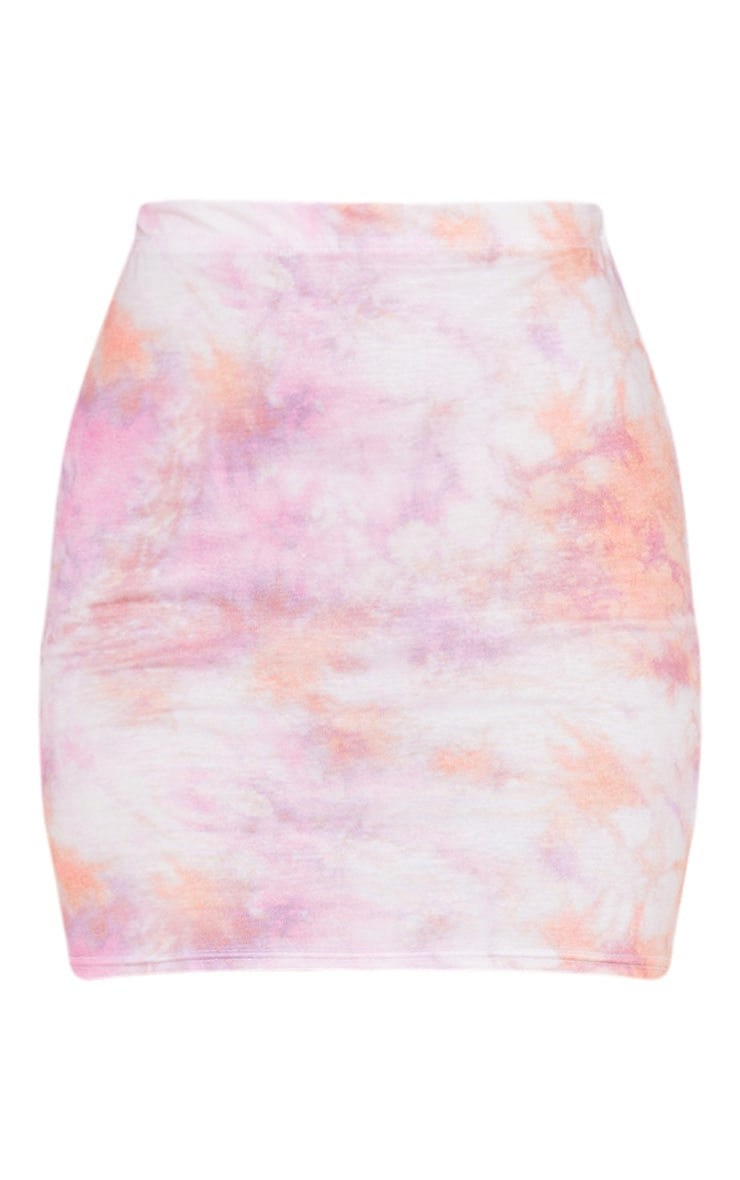Pink Tie Dye Mini Skirt 3