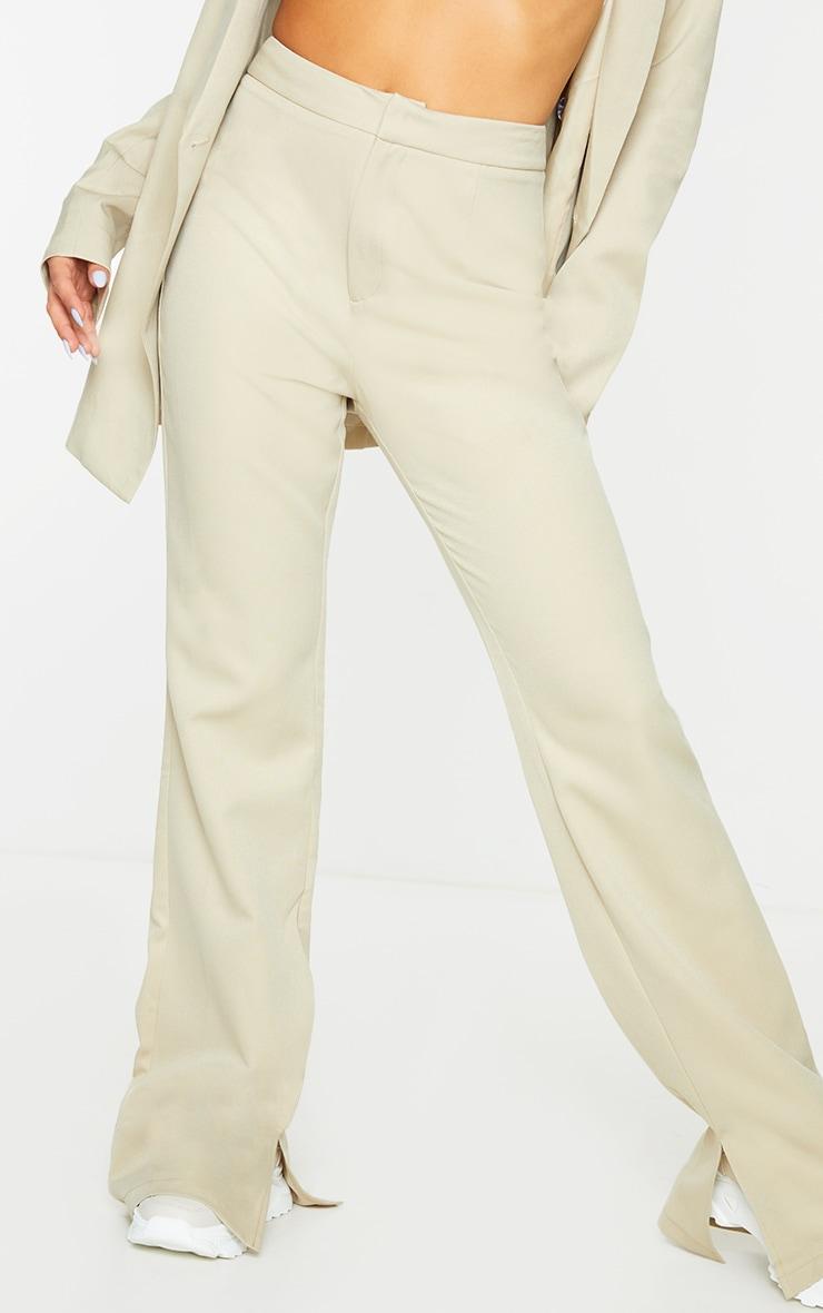 Sage Green Split Hem Wide Leg Suit Trousers 2