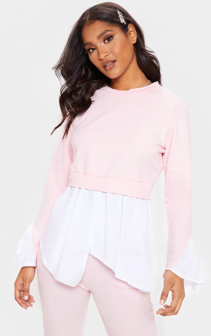 Baby Pink Peplum Sweater 1