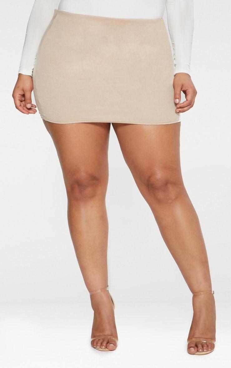 Plus  Stone Second Skin Ponte Mini Skirt 2
