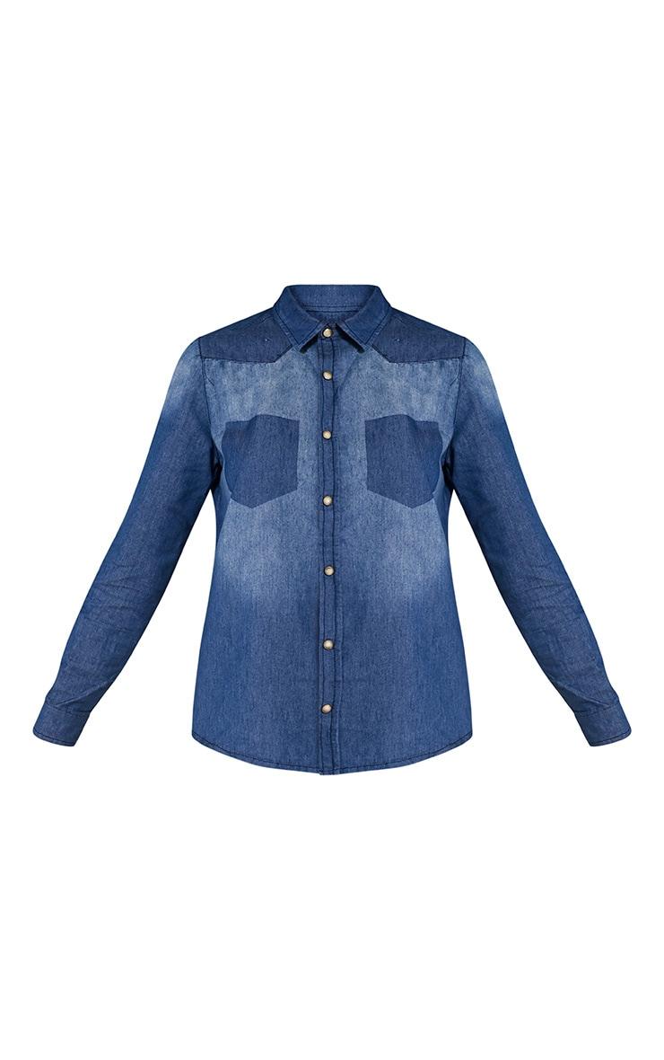 Francine Mid Wash Denim Shirt 3