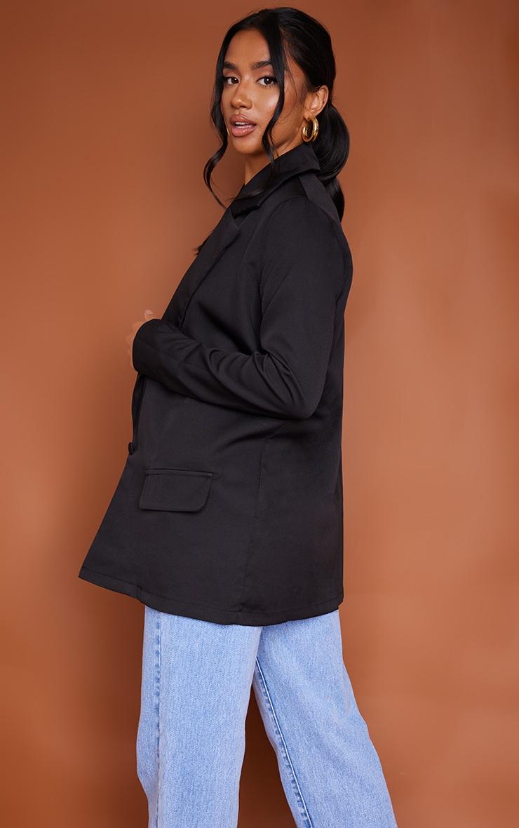 Petite Black Oversized Pocket Blazer 2
