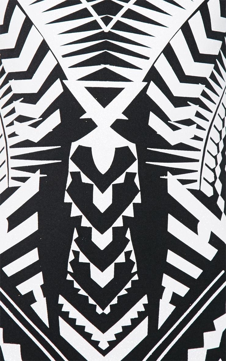 Elodie Black Aztec Glitter Print Midi Dress 4