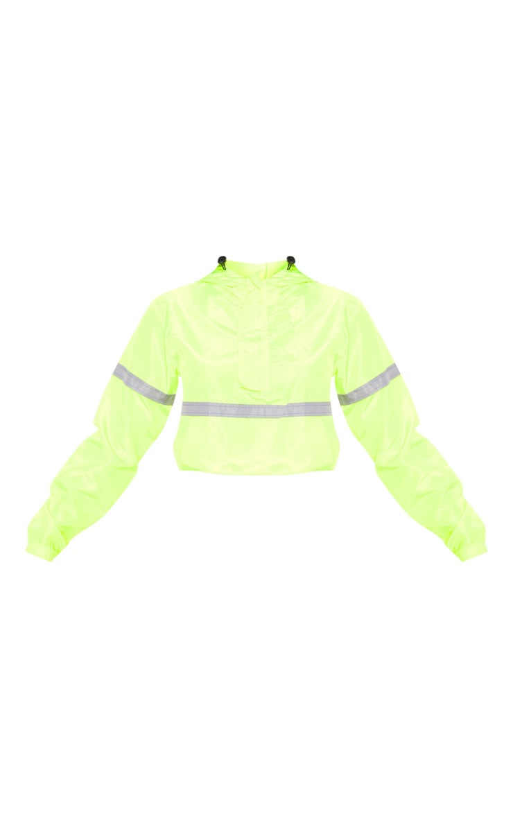 Neon Yellow Shell Reflective Tape Tracksuit Jacket 3