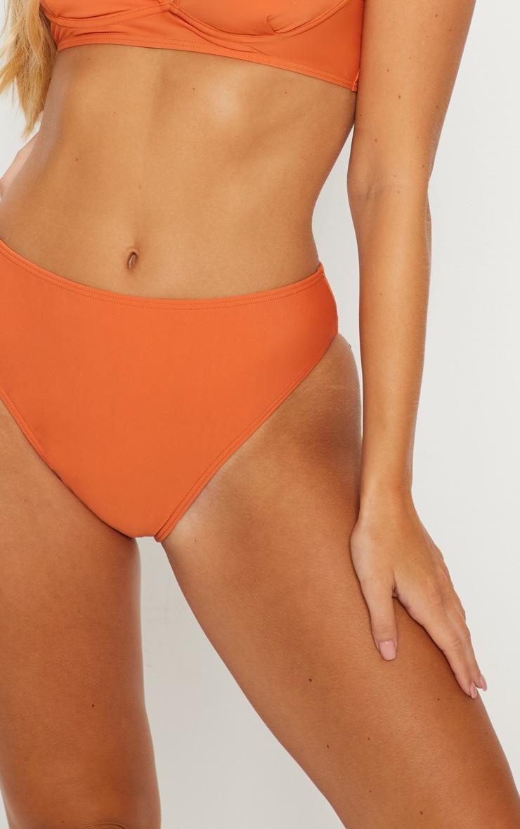 Rust High Waist Bikini Bottom 6