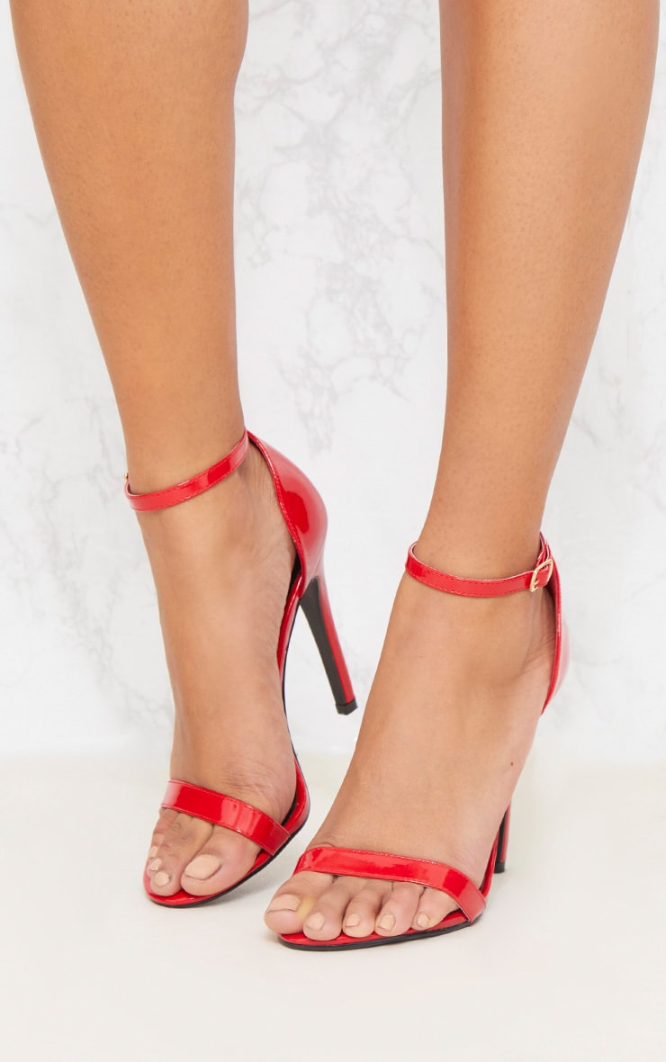 Red Patent Heeled Strappy Sandal 2