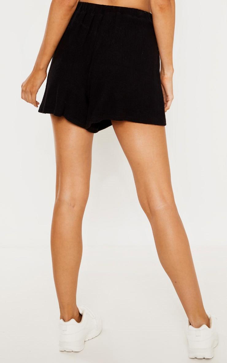 Tall Black Lightweight Knit Floaty Shorts 4