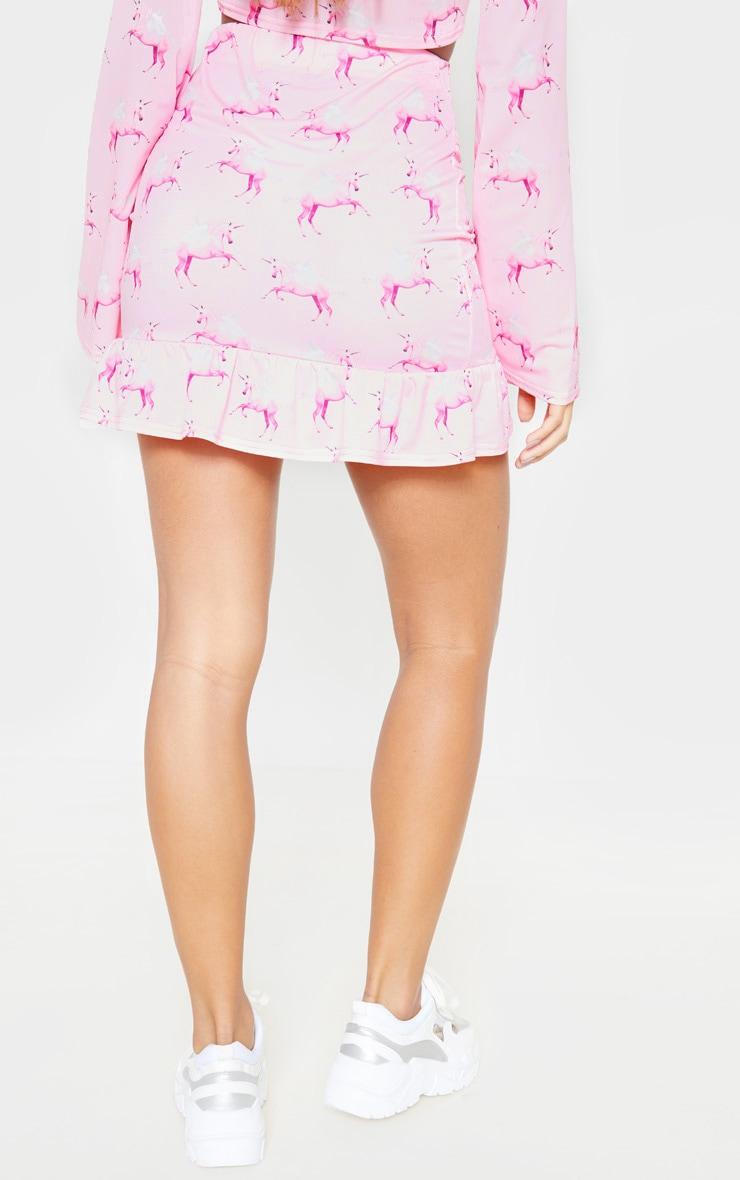 PRETTYLITTLETHING Unicorn Pink Frill Hem Mini Skirt 4
