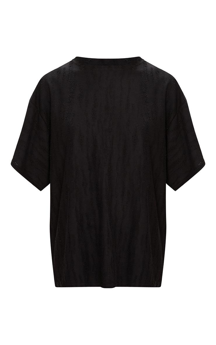 Black Distressed Boyfriend T Shirt 3