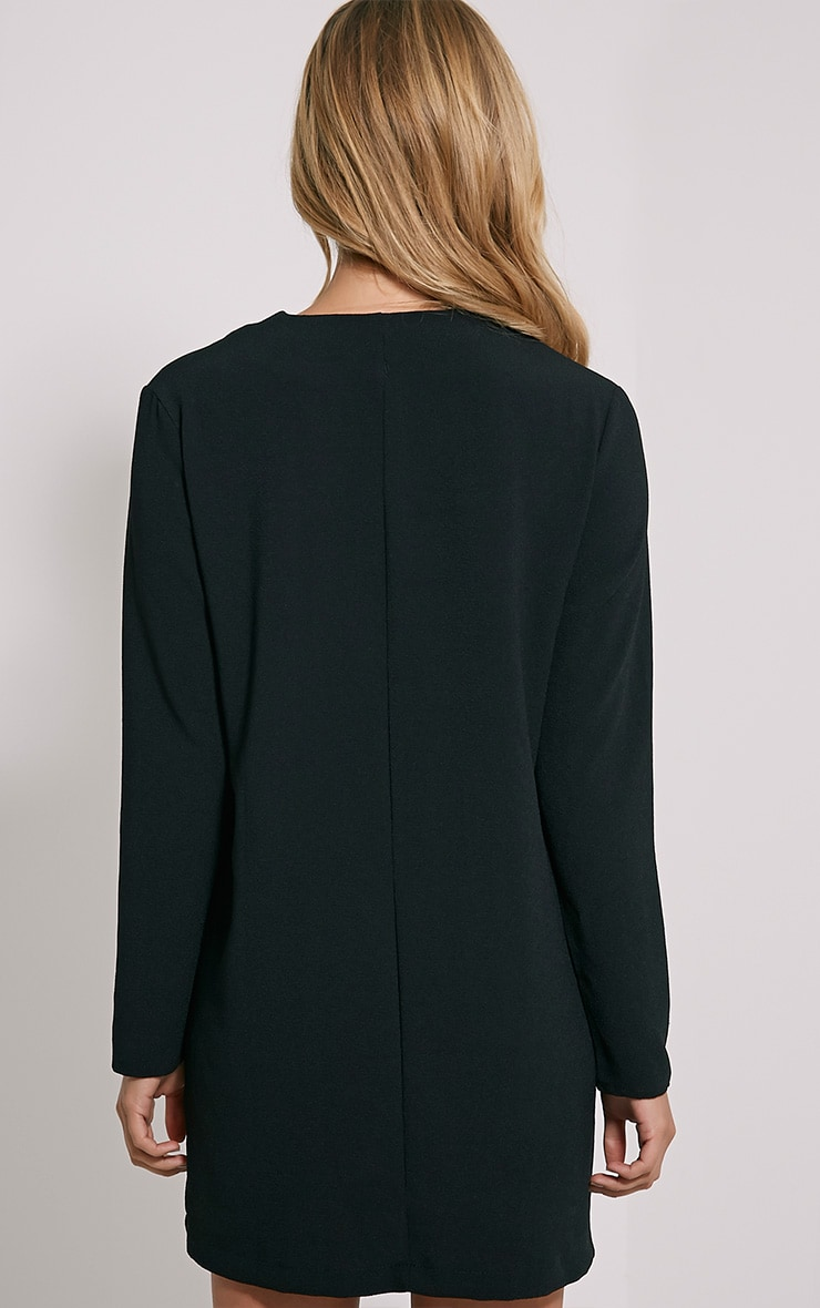 Jemima Black Loose Fit Blazer Dress 2