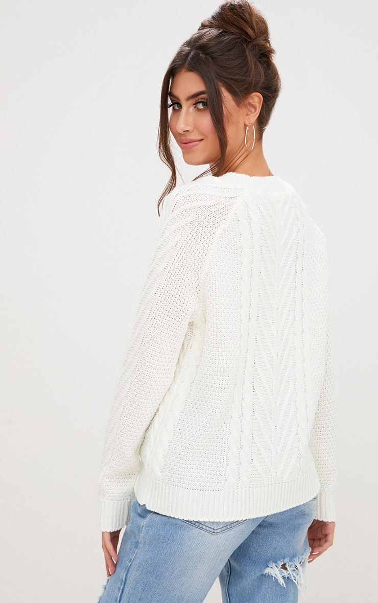 Cream Cable Knit Jumper 1