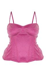 Plus Pink Glitter Corset  5