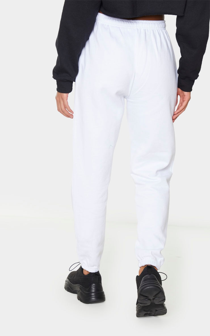 White Los Angeles Casual Jogger 3