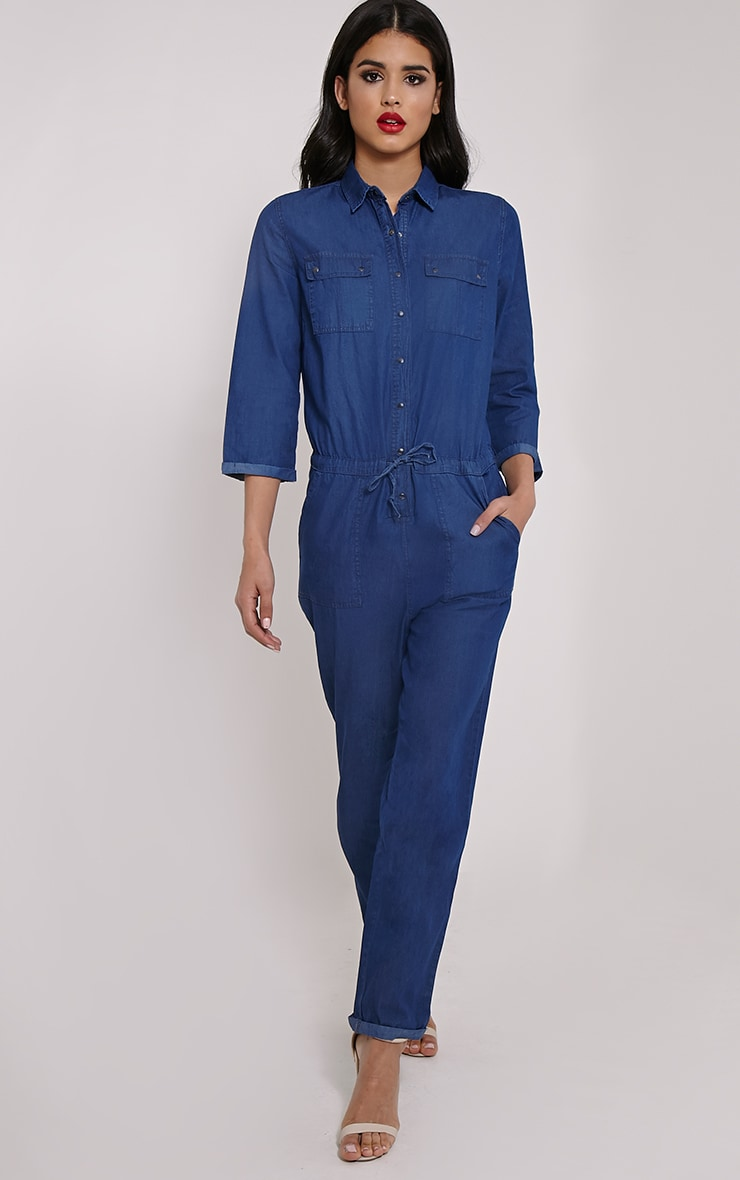 Symron Blue Denim Boiler Suit 1