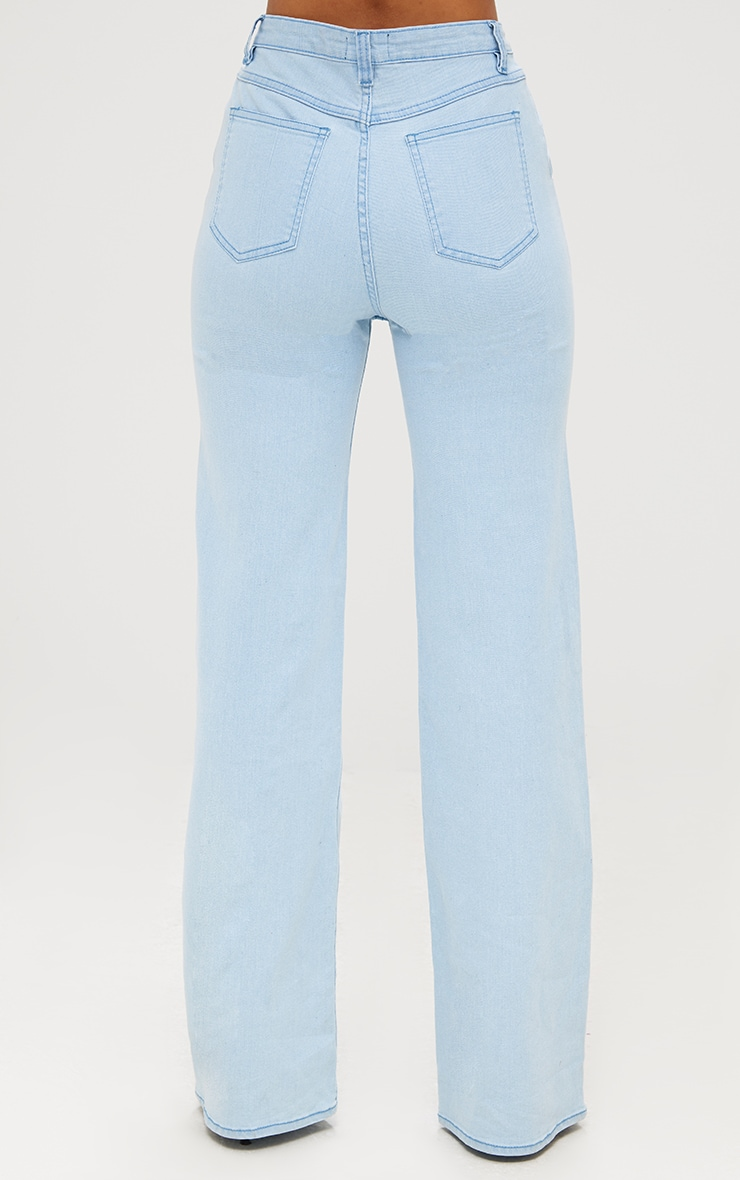 Light Wash Ring Pull Extreme Wide Leg Jeans 5