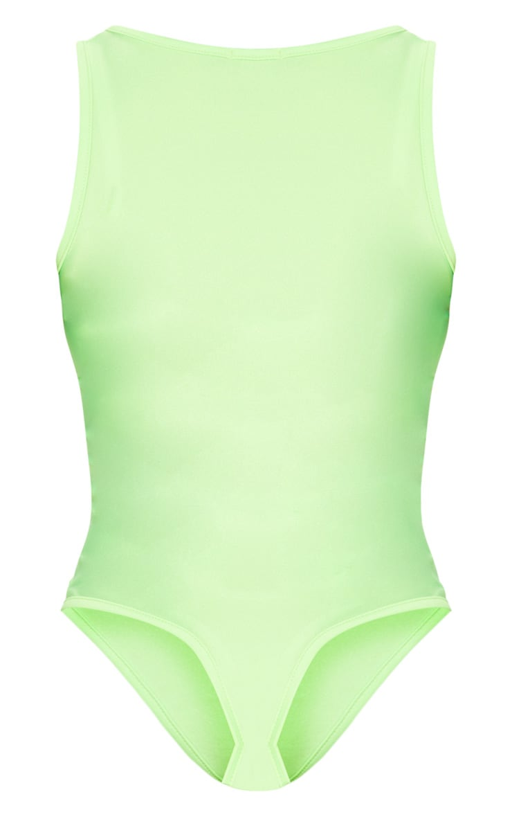 Lime Disco Scoop Neck Bodysuit 4