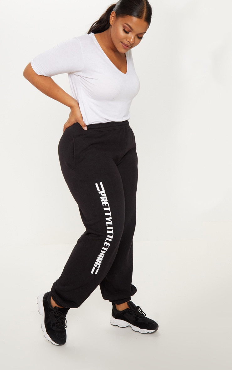 PRETTYLITTLETHING Plus Black Casual joggers 1