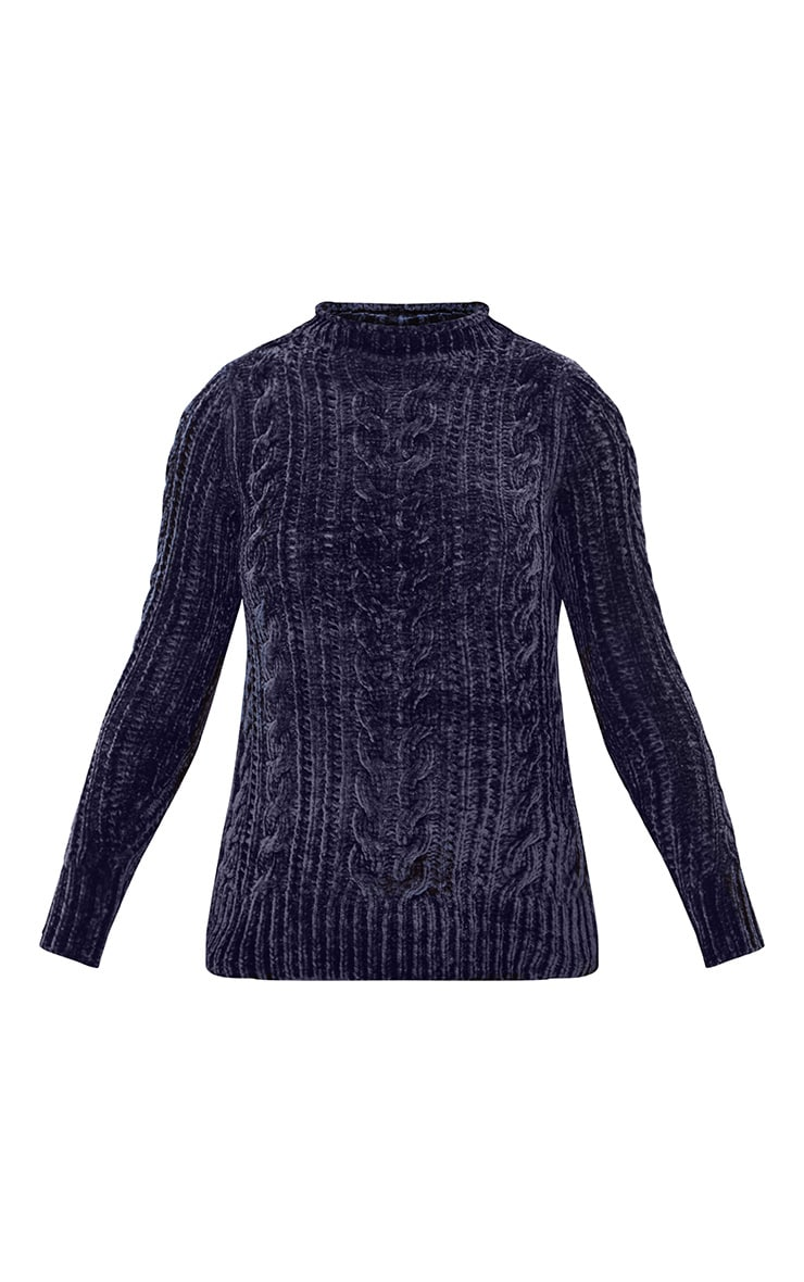 Blue Chenille Cable Jumper 3