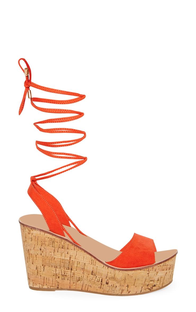 Orange Cork Wedge 3