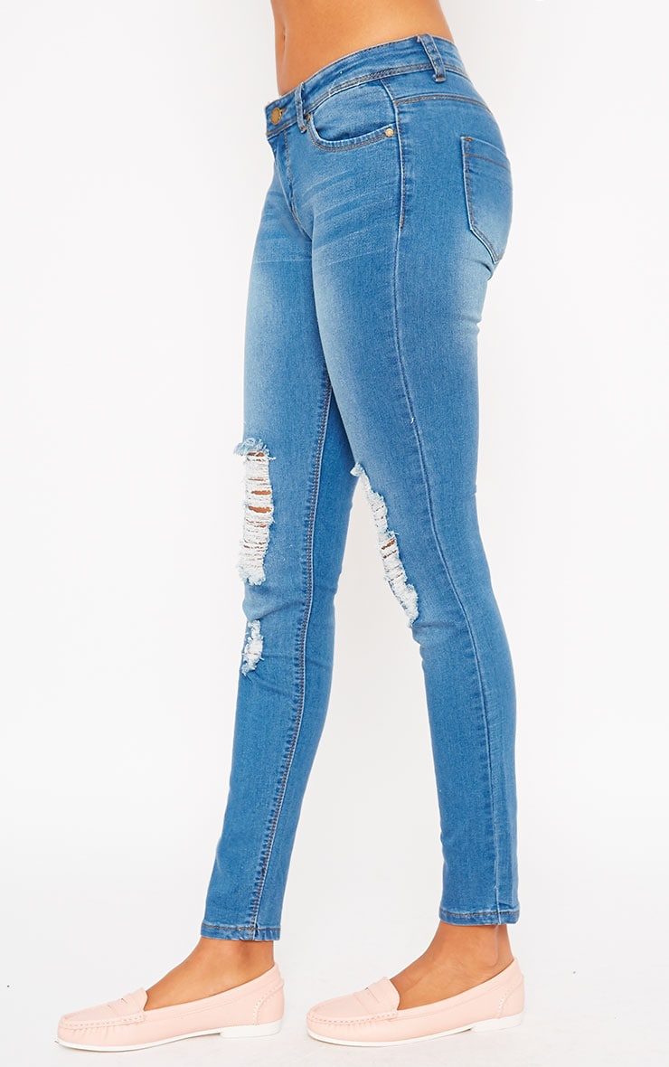 Mirka Blue Ripped Front Jeans 3