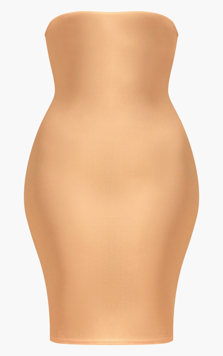 Plus Cream Bandeau Midi Dress 3